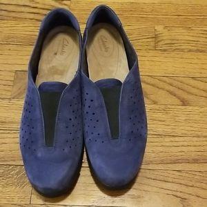 Clark Women Blue Suede